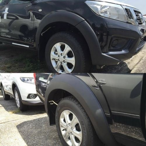 4 Door Fender Flares Wheel Arch Painted for Nissan Navara Forntier Np300 2014 15