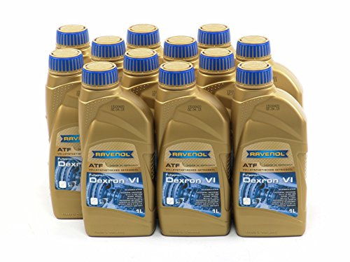 RAVENOL J1D2112-12 ATF (Automatic Transmission Fluid) - Dexron VI Fluid GMN 10060, MB 236.41 Approved (1 Liter) (1L, Case of 12) by Ravenol
