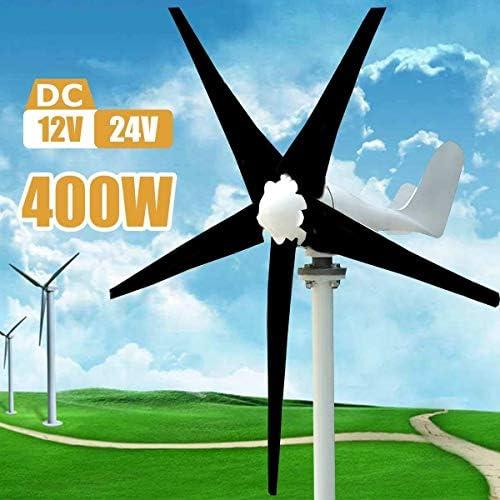 CTO 400W 12V 24 Volt 5 Blatt Horizontal Home Windturbinen Windgenerator Energie Windrad Energie Turbines Gebühr für den Freizeitbereich und ist bekannt für Batterien aufladen,24V