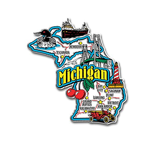 Michigan State Jumbo Map Magnet