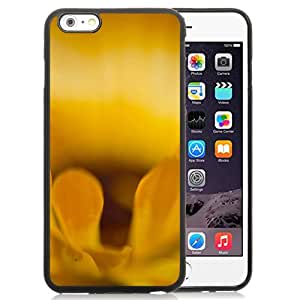 New Beautiful Custom Designed Cover Case For iPhone 6 Plus 5.5 Inch With Macro Petals Flower Yellow Phone Case