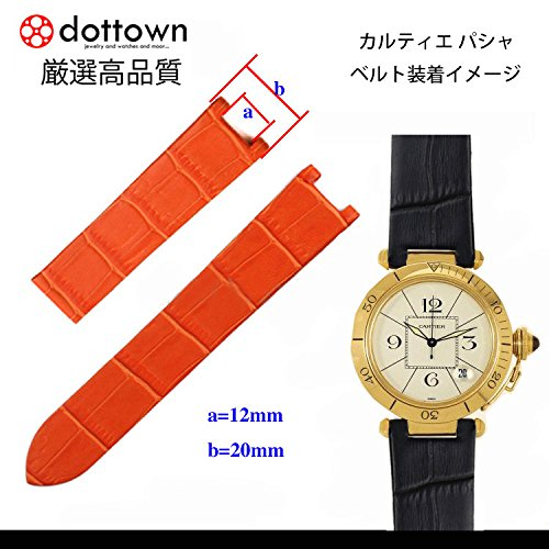 best loved d5381 4602d Amazon | ドットタウン 腕時計レザーベルト 革 カルティエ ...