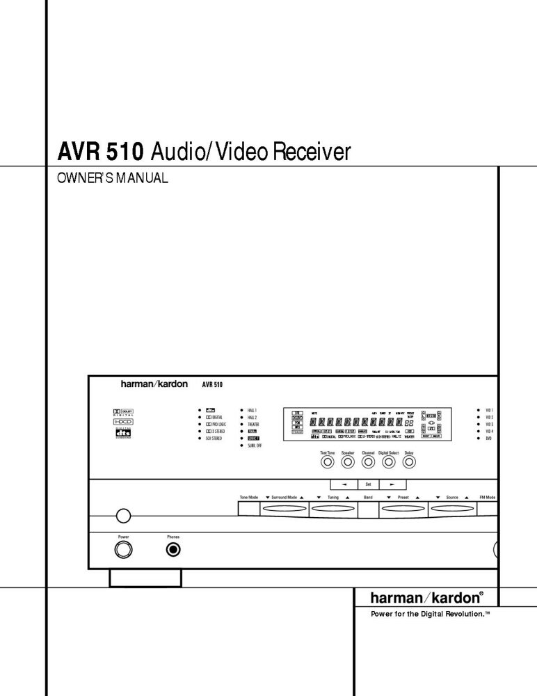 harman kardon avr 510 av receiver owners manual plastic comb jan rh amazon com harman kardon esquire owners manual harman kardon service manual