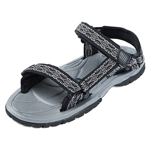Classics Textured Charcoal (Northside Boys' Seaview Sport Sandal, Black/Charcoal, Size 9 M US Toddler)