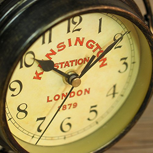 NEOTEND Handmade Vintage Bicycle Clock Bike Mute Two Sided Table Clock by NEOTEND (Image #7)