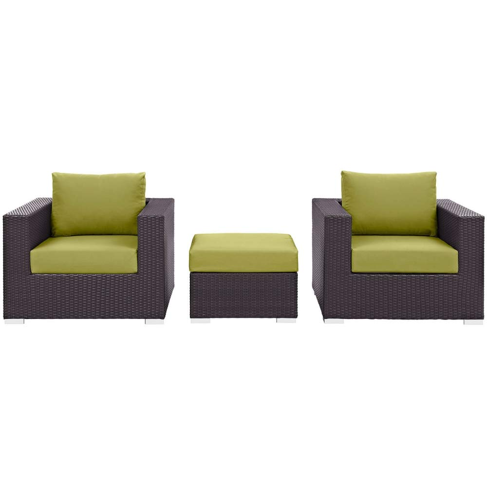 Amazon.com: Juego de 3 sillas y mesa de patio – Lona para ...