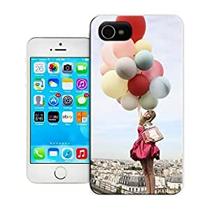 A fashionable girl holding a string of colorful balloon fly dreams durable top iPhone 5C protective case cover for xDs9uj1o16l sale by LeTian case cover