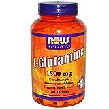 Now Foods L-Glutamine 1500 mg - 180 Tabs 6 Pack