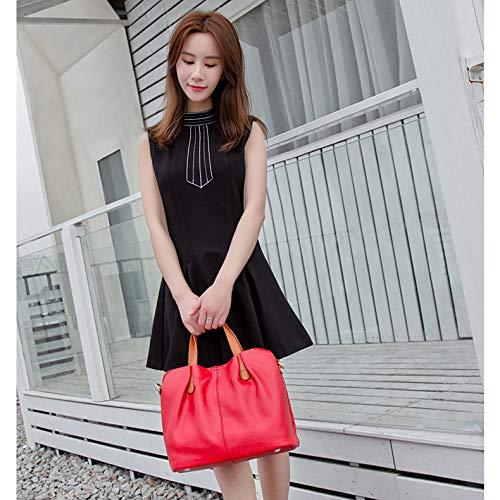 Mujer Moda De Para Mensajero Las Manijas Bolsos Vacaciones Gran Rosado Azul Hombro Gris Capacidad Señoras Cuero C Rojo Clásica Negro Bolso Compras SIdSvq