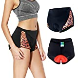 #7: Twotwowin Women's Bicycle Cycling Underwear Shorts Underpants For Cycling Riding Horse Road Bike - Women - colorful Printing