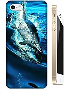 Blue and beautiful sea dolphin swimming happy cell phone cases for Apple Accessories iPhone 4/4S