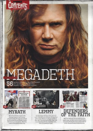 Metal Hammer Winter December 2010 (No Front Cover Page) Megadeth Lemmy Motorhead Lamb of God Venom Five finger Death Punch Turbowolf Soulfly Diamond Head Wednesday 13 The Devils Blood Jack Osbourne Pentagram Ace Frehley Confessions Kiss