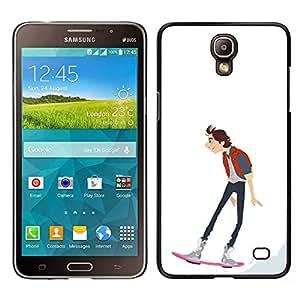 Be-Star Único Patrón Plástico Duro Fundas Cover Cubre Hard Case Cover Para Samsung Galaxy Mega 2 ( Skateboarding Dude Boy Guy Art Drawing )