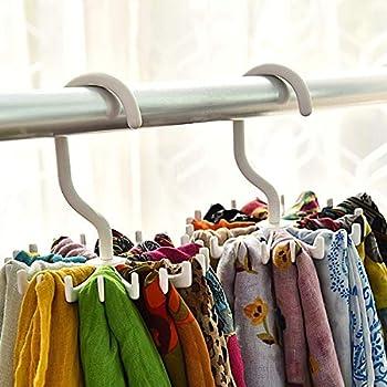 ️ Yu2d ❤️❤️ ️Rotating 20 Hooks Belt Scarves Men Neck Tie Holder Rack Hanger Organizer