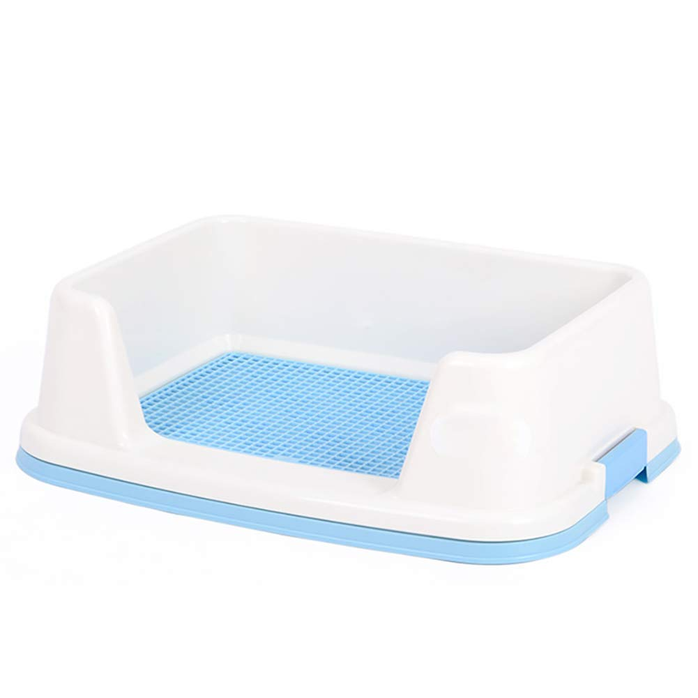 bluee 6550.5cm bluee 6550.5cm BMY Dog Toilet, Pet Supplies Grid Dog Potty, Puppy Cat Pet Training Mat Potty, Easy To Clean And Hygienic,Sterile,Tasteless And Corrosion Resistant,color Optional