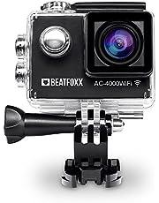 Beatfoxx AC-4000WiFI Full HD Action Kamera (Video: 1920 x 1080p bei 30 fps, Unterwassergehäuse, 170° Weitwinkel Objektiv, integrierte WiFi schnittstelle, Umfangreiches Halterungsset) schwarz