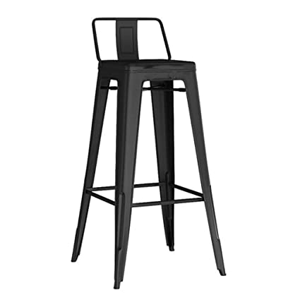 Incredible Amazon Com Hqcc Bar Stool Black Retro Metal Back Lounge Ocoug Best Dining Table And Chair Ideas Images Ocougorg