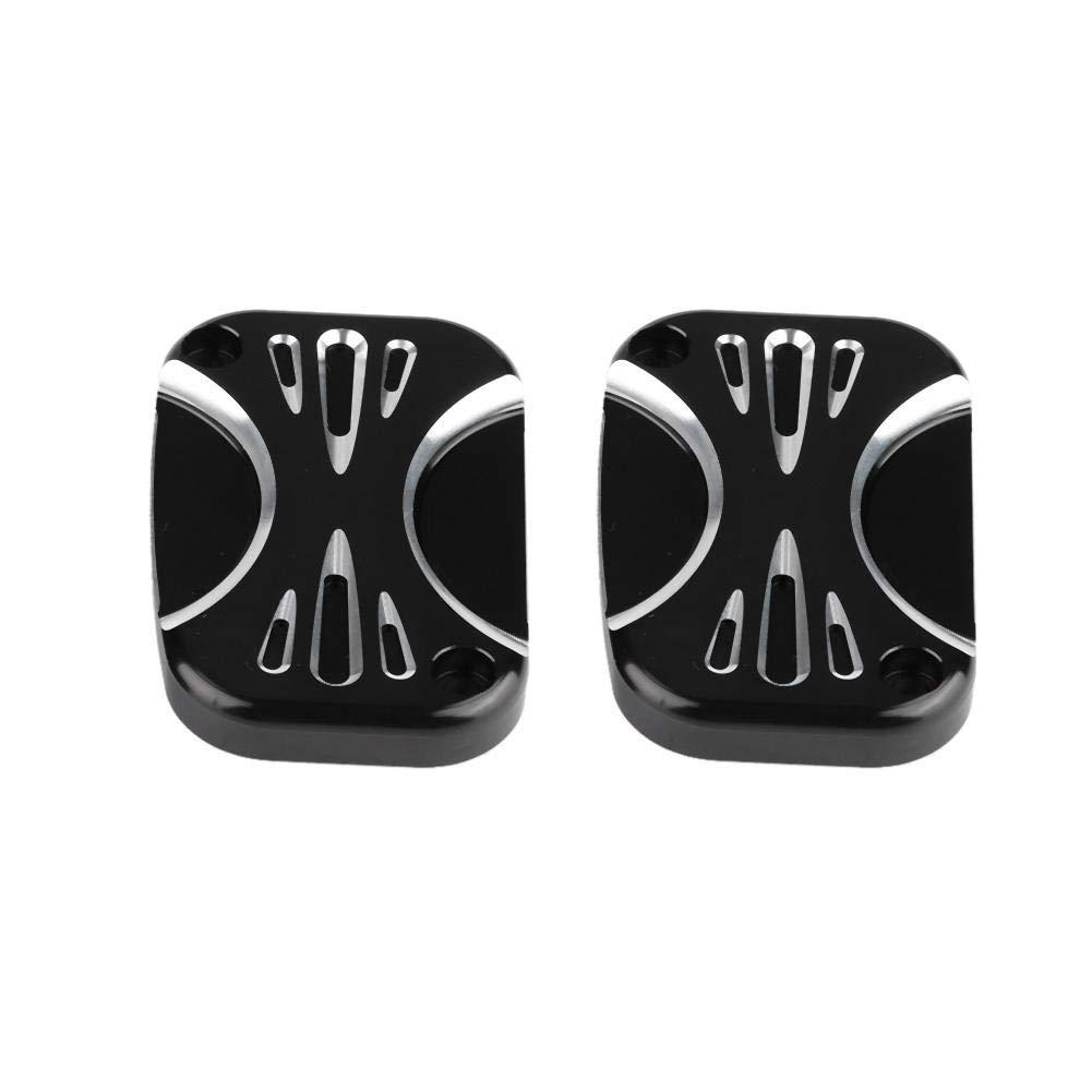 Black CNC aluminium alloy Duokon Motorcycle Modification Brake Master Cylinder Cover for Electra Glide 2008-2017