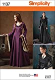 SIMPLICITY Patterns 1137 Misses' Medieval Fantasy Costumes, R5 (14-16-18-20-22)
