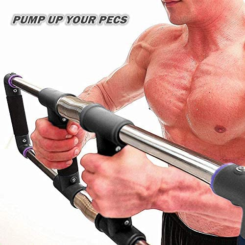 GoFitness Push Down Bar Machine - Chest Expander at Home Workout Equipment - Portable Spring Resistance Exercise Gym Kit for Home, Travel or Outdoors 5