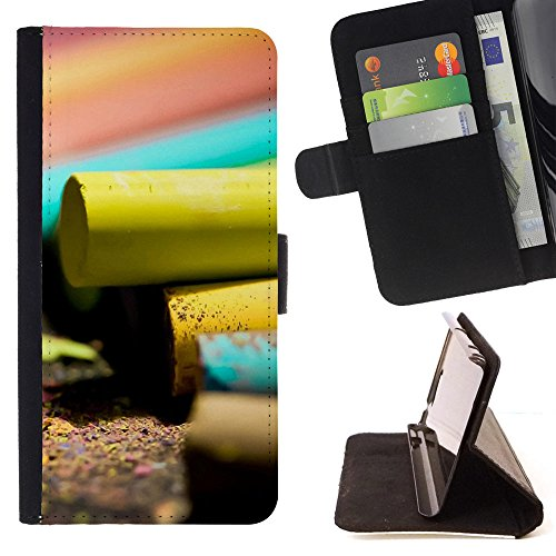 BOOK CASE - FOR Apple iPod Touch 6 6th Generation - Chalk - Folio PU Wallert Leather ()