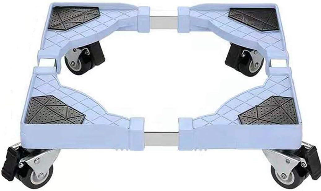 Base Móvil de Lavadora con 4 ruedas Multifuncional Rodillo de carro ajustable para Lavadora Refrigerador Secador