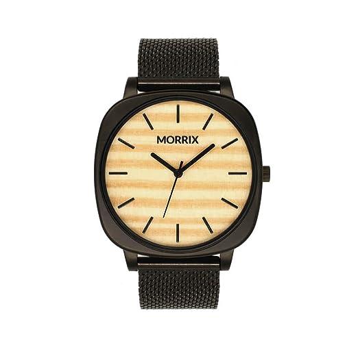 Reloj de Madera Morrix, Reloj de Pulsera de Madera, para Hombre y Mujer (