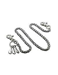 Basic Strong Twisted Biker Trucker Keychain Key Jean Wallet Chain WC39