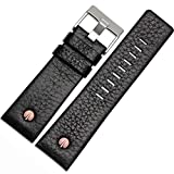 Choco&Man US Diesel Calfskin Leather Watch Band with Tool 22mm 24mm 26mm 28mm 30mm Replacement for Men's Diesel Watches