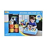 Sunny Days Entertainment Kitchen Sink Play Set with Running Water – 20 Piece Pretend Play Toy for Boys and Girls   Kids Kitchen Role Play Dishwasher Toys