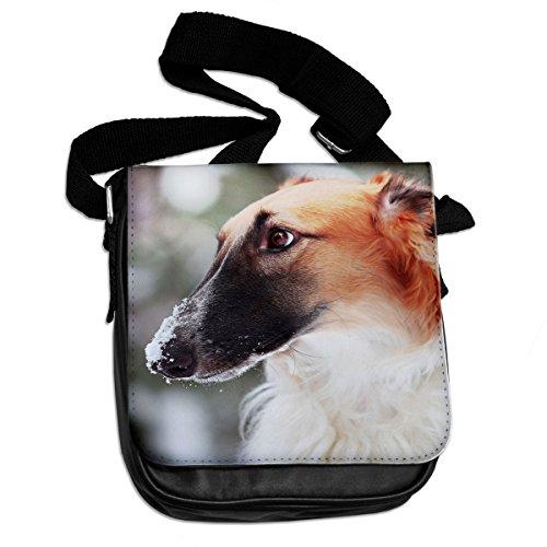 Borzoi cane animale borsa a tracolla 048