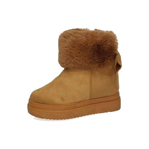 RENDA SY-7 BOTÍN con Pelo Camel Mujer Botines Camel 37: Amazon.es: Zapatos y complementos