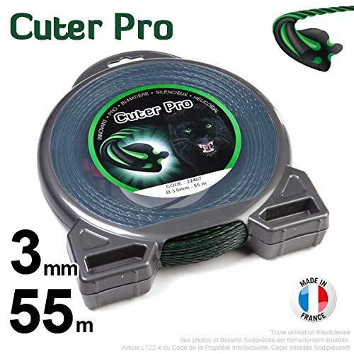 Hilo Desbrozadora Nylon cuter Pro Hélicoïdal 3 mm par 55 m en ...