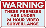 Warning Video Spy Surveillance Cameras Recording Yard Property Waterproof Sign