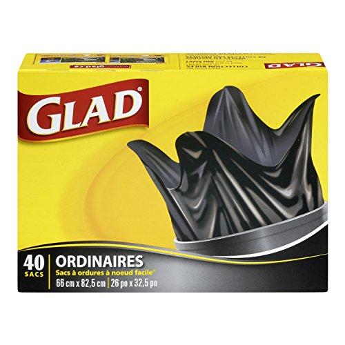 Glad Easy-Tie Regular Garbage Bags, 40 ct