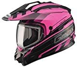 G-Max XF-3-72-7133S GM11S Trekka Snow Sport Helmet, Gender: Mens/Unisex, Size: Sm, Distinct Name: Black/Pink, Primary Color: Pink, Helmet Type: Dual Sport Helmets, Helmet Category: Snow