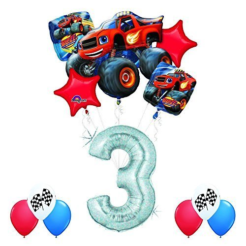 (Anagram Blaze and the Monster Machines 3rd Birthday Balloon Decoration Kit)