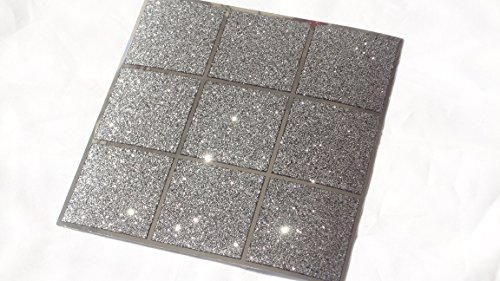 Pack Of 10 Black And Silver Glitter Mosaic Tile Transfers Stickers Bathroom  Kitchen Stick On Wall Tile Peel And Stick Size 6X6: Amazon.co.uk: Kitchen U0026  Home Part 33