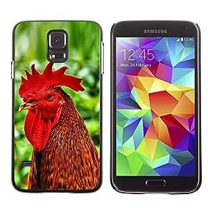 YOYO Slim PC / Aluminium Case Cover Armor Shell Portection //Cool Funny Rooster Cock //Samsung Galaxy S5