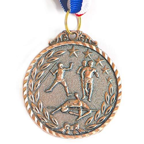 Medalha Ax Esportes 50Mm Atletismo Alto Relevo Bronzeada - Y225B