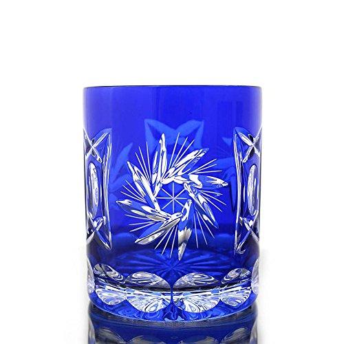 Whiskey glass ''Schleuderstern'' (280ml) blue, lead crystal, modern style, glass (CRISTALICA KINGDOM powered by CRISTALICA)