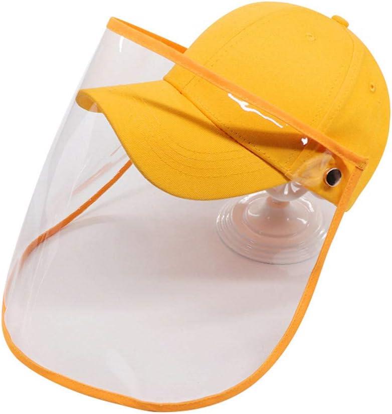 Gorra de b/éisbol a Prueba de Viento a Prueba de Polvo con Gorra de Pescador al Aire Libre extra/íble y Anti Saliva para ni/ños Lutun Protector Facial para ni/ños
