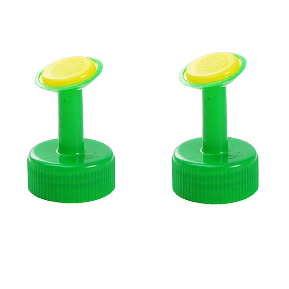 Iusun Bottle Top Plants Watering Device Automatic Drip Lawn Sprinkler Garden Water Sprinklers Irrigation System Seed Seedlings Flower Pot Waterer Tool Indoor | Outdoor 2PCS (Green)
