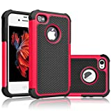 iphone 5 case red and black - iPhone 5S Case, iPhone SE Case, Tekcoo(TM) [Tmajor Series] [Red/Black] iPhone 5 5S SE 5SE Case Shock Absorbing Hybrid Defender Rugged Cover Skin Shell Hard Plastic Outer & Rubber Silicone Inner