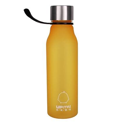 UPSTYLE Eco-friendly colorido plástico botella para hacer deporte con cuerda de silicona bebidas botellas