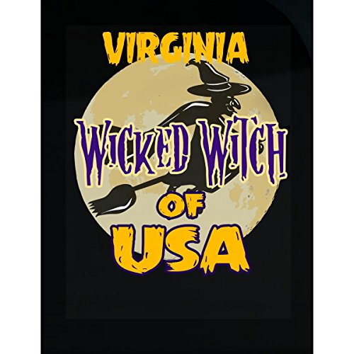 Prints Express Halloween Costume Virginia Wicked Witch of USA Great Personalized Gift - Sticker