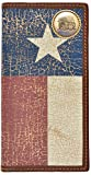 Custom Cowboy Church, Praying Cowboy Long Wallet with Distressed Texas Lone Star Flag