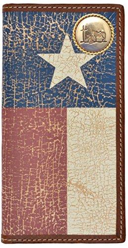 Custom Cowboy Church, Praying Cowboy Long Wallet with Distressed Texas Lone Star Flag by Genuine Texas Brand