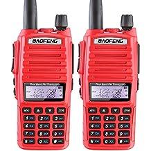 2PCS BaoFeng UV-82 Dual Band (VHF/UHF) Analog Portable Two-Way Radio Red color