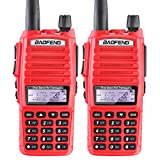 2PCS BaoFeng UV82 UV-82 Dual Band VHF/UHF Analog Portable Two-Way Radio Red